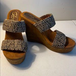 Sbicca vintage collection platform shoes